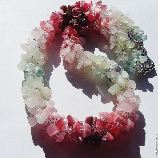 """Колье, бусы ручной работы. Ярмарка Мастеров - ручная работа. Купить Бусы из натуральных камней """"Вдохновение-4"""".. Handmade."""
