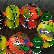 Украшения handmade. Livemaster - original item Beads to Touch the warm lampwork. Handmade.