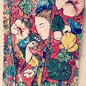 """Панно ручной работы. Ярмарка Мастеров - ручная работа Керамическое пано """"в ожидании весны"""". Handmade."""