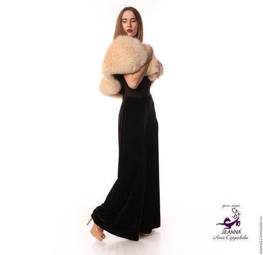 Дизайнер Анна Сердюкова (Дом Моды SEANNA). Горжетка из песца на подкладке из леопардового бархата. Выполняется на заказ в любом цвете меха. Цена - 45000 руб. Бесплатная доставка в подарок!