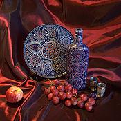 """Посуда ручной работы. Ярмарка Мастеров - ручная работа Комплект декоративной посуды """"Ночная сказка Аграбы"""". Handmade."""