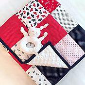 Для дома и интерьера ручной работы. Ярмарка Мастеров - ручная работа Детское демисезонное лоскутное одеяло, покрывало, лоскутная подушка. Handmade.