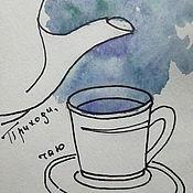 """Картины и панно ручной работы. Ярмарка Мастеров - ручная работа Графика """"Чай"""". Handmade."""