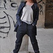 Брюки ручной работы. Ярмарка Мастеров - ручная работа Оригинальные черные брюки - PA0726CT. Handmade.