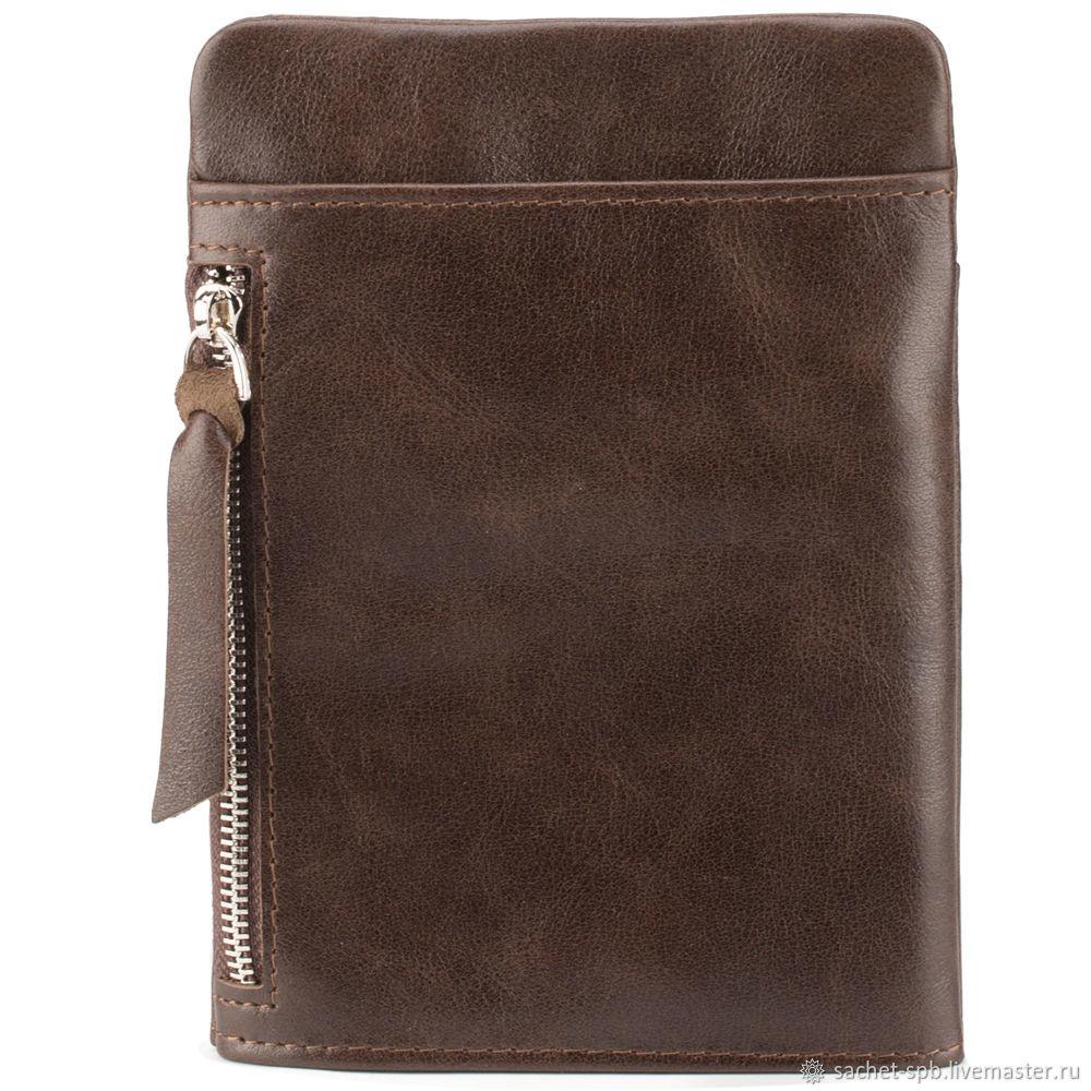 Leather bag 'Pete' (brown), Classic Bag, St. Petersburg,  Фото №1