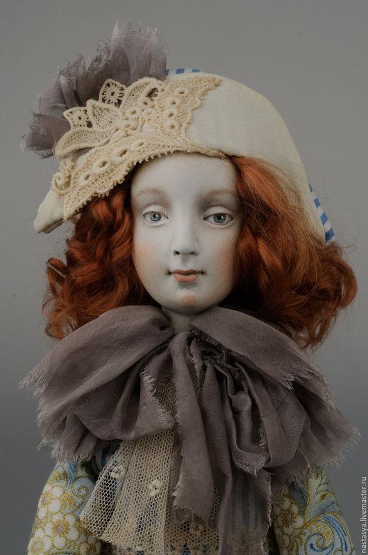 Коллекционные куклы ручной работы. Ярмарка Мастеров - ручная работа. Купить Будуарная кукла Маргарита. Handmade. Голубой, подарок