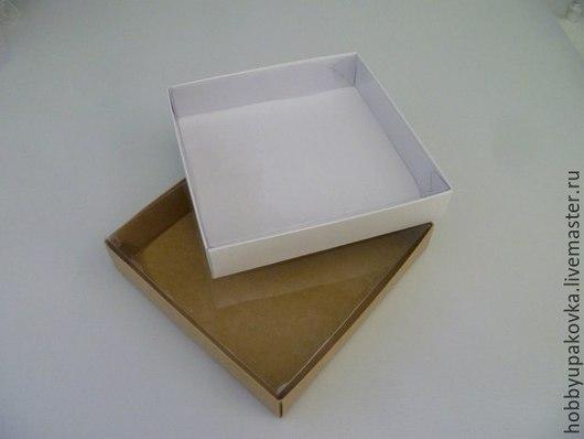 Два варианта в одной коробке! Коробку можно собрать как белой стороной наружу, так и стороной крафт