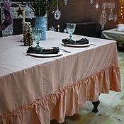 Для дома и интерьера handmade. Livemaster - original item TABLECLOTHS: Molinia linen tablecloth shape and size optional. Handmade.
