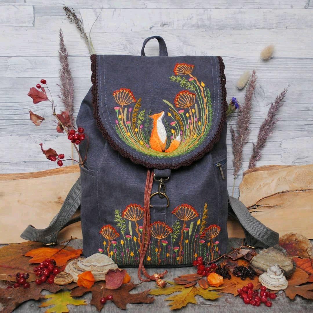Linen backpack ' Chanterelle in dreams', Backpacks, Rybinsk,  Фото №1