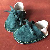 Обувь ручной работы. Ярмарка Мастеров - ручная работа Пинетки кожаные ручной работы, разноцветные. Handmade.