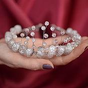 Свадебный салон handmade. Livemaster - original item Crown, tiara of rock crystal and snow quartz