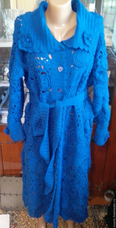 Вязание пальто ирландским кружевом 273