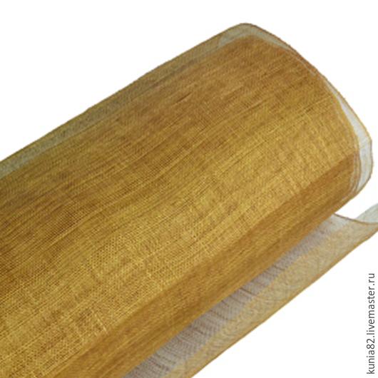 Синамей  для изготовления шляп цвет ЗОЛОТОЙ полуфабрикат для изготовления шляп и головных уборов. Анна Андриенко. Ярмарка Мастеров.
