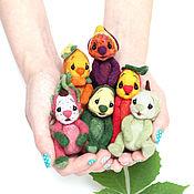 Куклы и игрушки ручной работы. Ярмарка Мастеров - ручная работа мини коллекция малышей экзотиков валяная игрушка. Handmade.