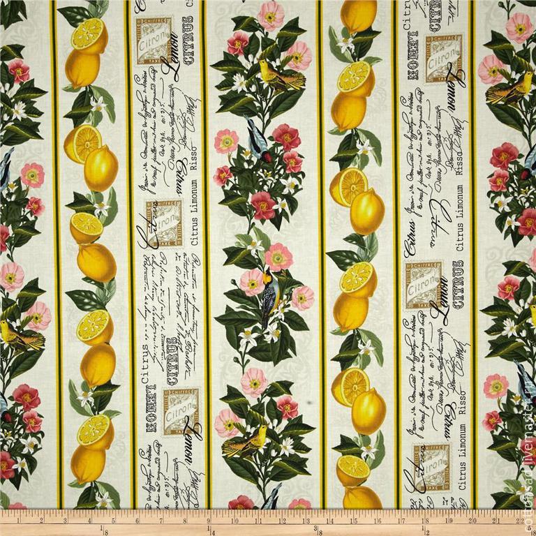 """Ткань для печворка (2 вида). """"Лимончики"""". Американский хлопок, , Москва, Фото №1"""