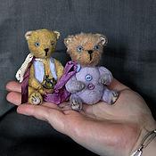 Куклы и игрушки ручной работы. Ярмарка Мастеров - ручная работа Миниатюрные мишки Prig или Rusty. Handmade.