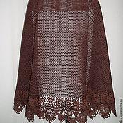 Одежда ручной работы. Ярмарка Мастеров - ручная работа летняя юбка из хлопка Шоколад. Handmade.