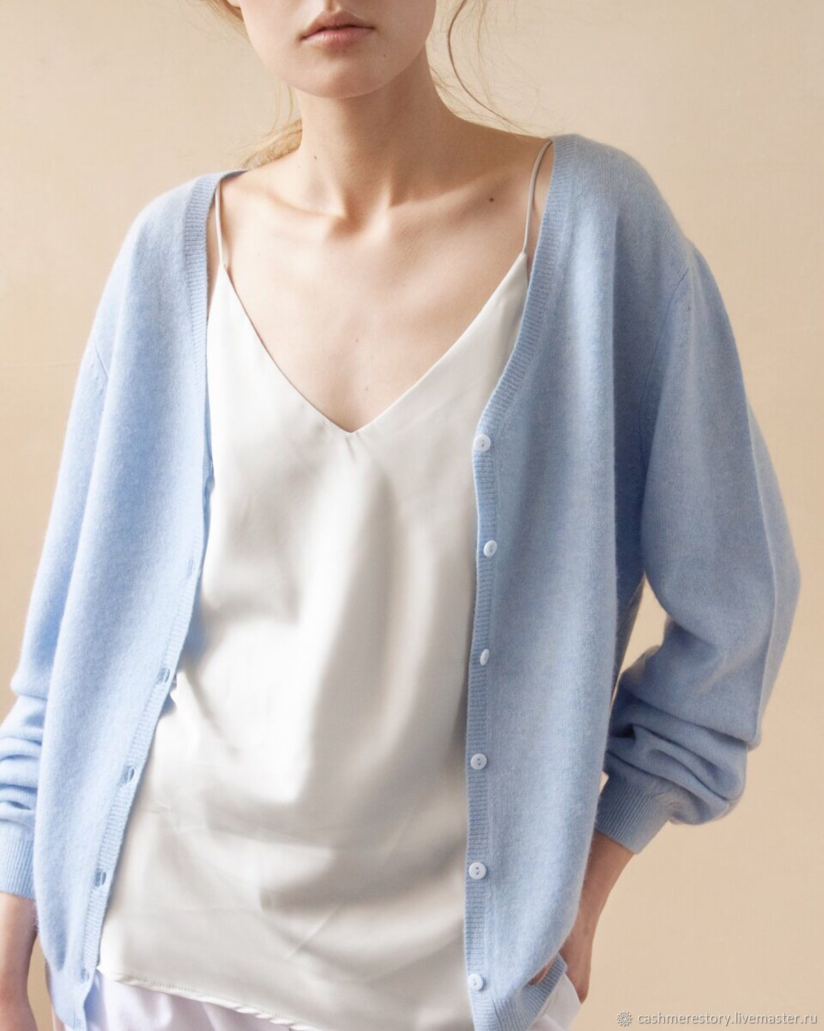 Cashmere cardigan with buttons Breeze, Cardigans, Moscow,  Фото №1