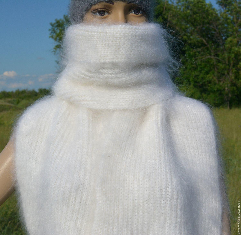 Scarf down 'EVEREST' knit waffle-knit soft warm, Scarves, Urjupinsk,  Фото №1