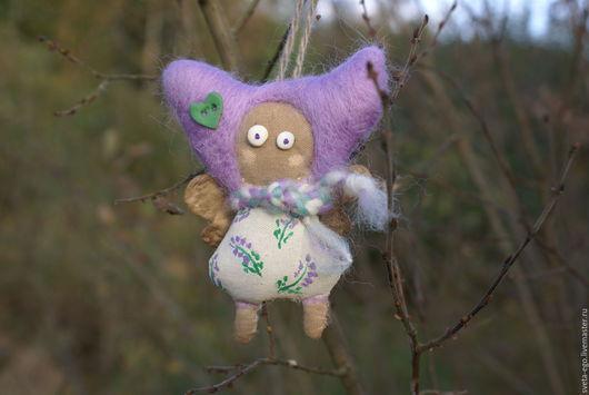 Человечки ручной работы. Ярмарка Мастеров - ручная работа. Купить Авторская куколка фея- мушка Лавандовая. Handmade. Лавандовый