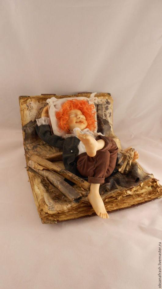 Коллекционные куклы ручной работы. Ярмарка Мастеров - ручная работа. Купить Хранитель знаний 3. Handmade. Коричневый, карта