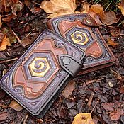 Сумки и аксессуары ручной работы. Ярмарка Мастеров - ручная работа Портмоне Hearthstone (legendary) Leather Card Wallet. Handmade.