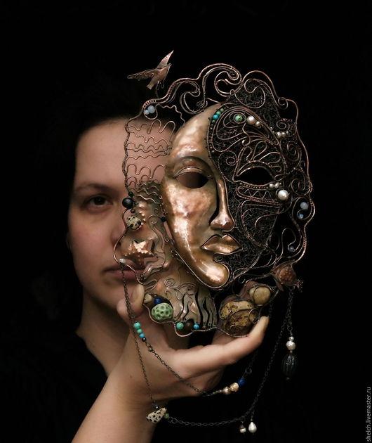 Интерьерные  маски ручной работы. Ярмарка Мастеров - ручная работа. Купить IN NOMINE AQUA! (Именем Воды) интерьерная маска. Handmade.