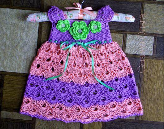 Одежда для девочек, ручной работы. Ярмарка Мастеров - ручная работа. Купить Кружевное платье для девочки.. Handmade. Платье на лето