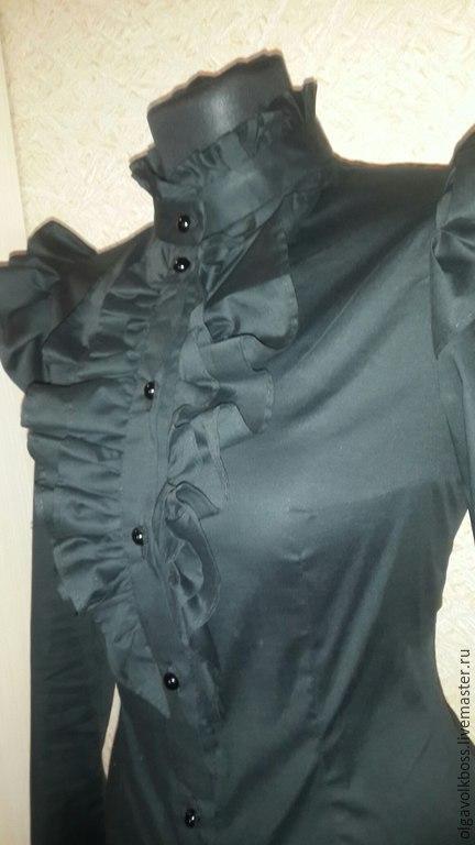 Блузки ручной работы. Ярмарка Мастеров - ручная работа. Купить Блузка с рюшами. Handmade. Черный, красивая блузка