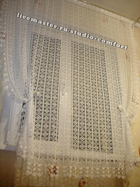 """Текстиль, ковры ручной работы. Ярмарка Мастеров - ручная работа. Купить штора """"Нежность"""". Handmade. Штора, шторы на кухню"""