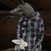 Куклы и игрушки handmade. Livemaster - original item The wolf and the hare. Handmade.
