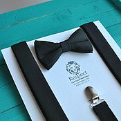Аксессуары handmade. Livemaster - original item Black tie Classic black-colored suspenders. Handmade.