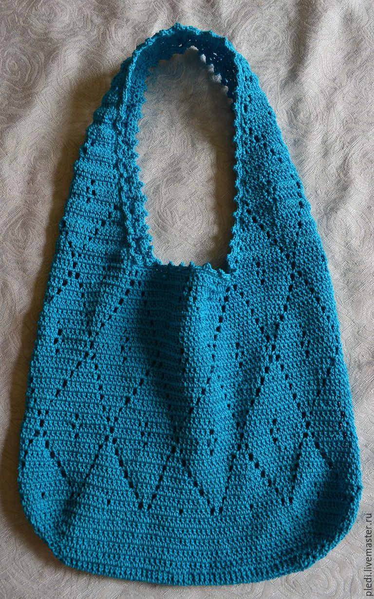 Summer cotton bag 'Turquoise', Bags, Moscow, Фото №1