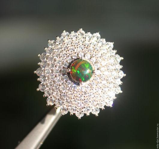 """Кольца ручной работы. Ярмарка Мастеров - ручная работа. Купить Кольцо """"Royal flower"""" опал. Handmade. Кольцо серебряное, опаловый"""