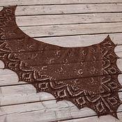 Шали ручной работы. Ярмарка Мастеров - ручная работа Ажурная асимметричная шаль из мохера. Handmade.