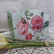"""Для дома и интерьера ручной работы. Ярмарка Мастеров - ручная работа конфетница для кухни """"Нежность роз"""". Handmade."""