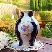 Винтаж handmade. Livemaster - original item Lindner.Flower vase.Cobalt.Germany.. Handmade.