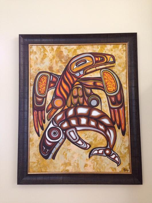 """Этно ручной работы. Ярмарка Мастеров - ручная работа. Купить Картина """"Громовая птица нападает на кита Наму"""". Handmade. мексика"""