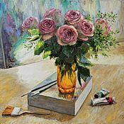 Картины и панно handmade. Livemaster - original item Sunny morning in the workshop. Oil on canvas. 2019. Handmade.