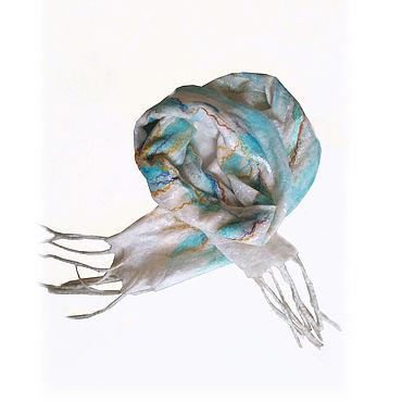 Accessories. Livemaster - original item Felted scarf