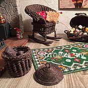 Куклы и игрушки handmade. Livemaster - original item Rocking chair for dolls-furniture for a dollhouse miniature 1:12. Handmade.