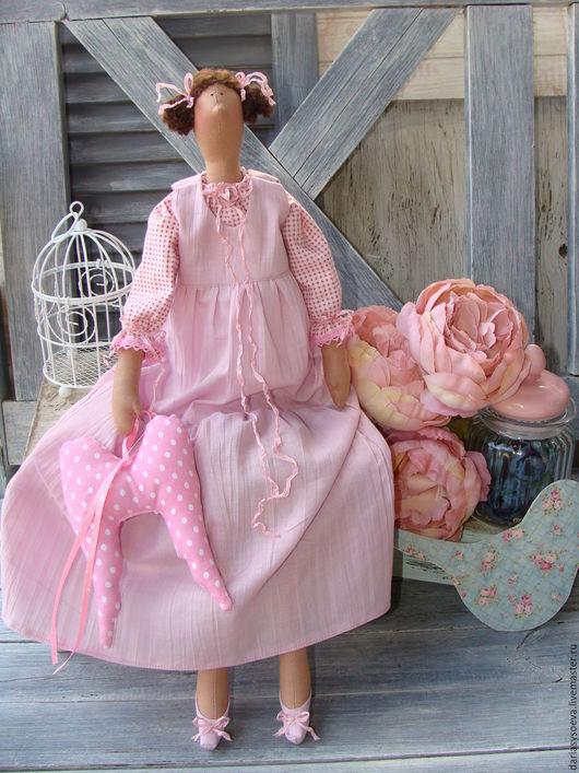 Куклы Тильды ручной работы. Ярмарка Мастеров - ручная работа. Купить Ангелок Ася. тильда. Handmade. Розовый, кукла интерьерная