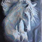 Материалы для творчества ручной работы. Ярмарка Мастеров - ручная работа Набор для вышивания крестом 30х45 Лошадь конь Ветер в гривах. Handmade.