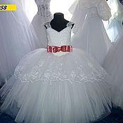 Работы для детей, ручной работы. Ярмарка Мастеров - ручная работа Белоснежное платье с вышивкой 5-7 лет. Handmade.