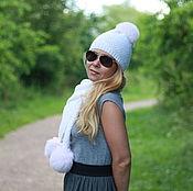 Аксессуары handmade. Livemaster - original item Woolen hat white