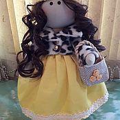 Тыквоголовка ручной работы. Ярмарка Мастеров - ручная работа Подарочная интерьерная кукла Лола. Handmade.
