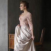 Свадебный салон handmade. Livemaster - original item Wedding dress of lace and thick satin -Promotion - Sales Sample. Handmade.