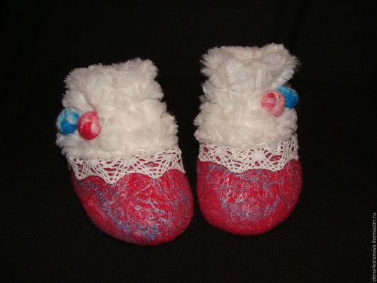 Обувь ручной работы. Ярмарка Мастеров - ручная работа. Купить Пинетки для малышей. Handmade. Разноцветный, Тапочки ручной работы