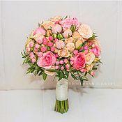 Свадебные букеты ручной работы. Ярмарка Мастеров - ручная работа Розовый свадебный букет невесты. Handmade.