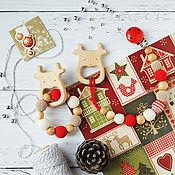 Одежда handmade. Livemaster - original item Christmas stationery-gryzunki deer red, white, beige. Handmade.